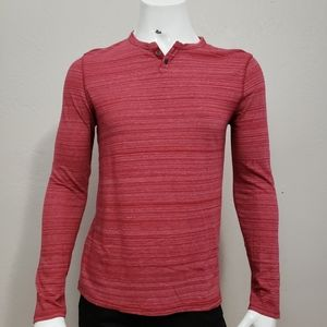 Express Heathered Red Henley